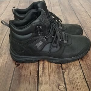 Timberland Black Defender Leather Hiker Boots 13